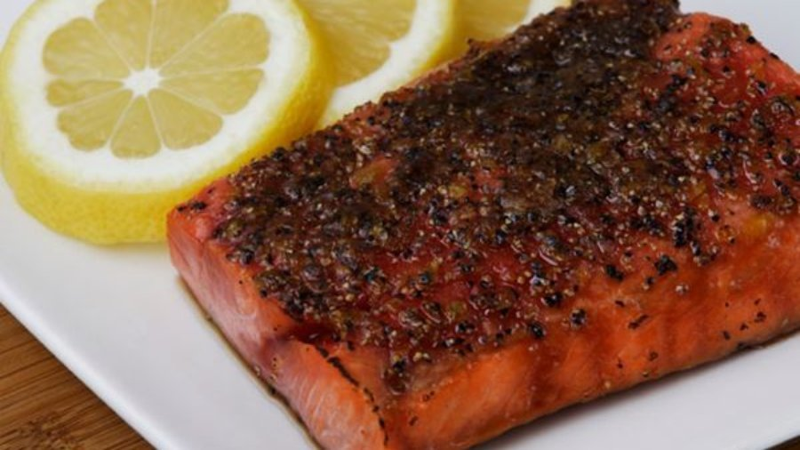 Broiled Sockeye Salmon with Citrus Glaze