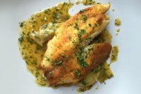 Pan-Fried Tilapia with Braised Leeks and Gremolata