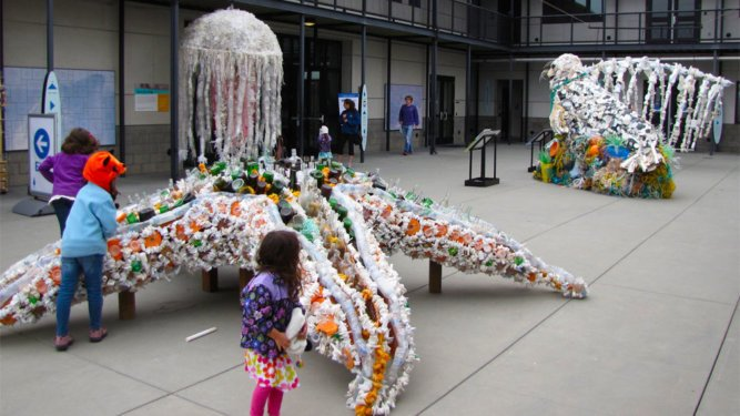 Novel Way to Recycle Marine Debris and Educate the Public