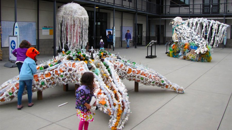 Sculpture from Recycled Marine Debris