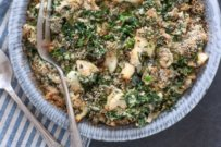 TURBOT AND SPINACH GRATIN