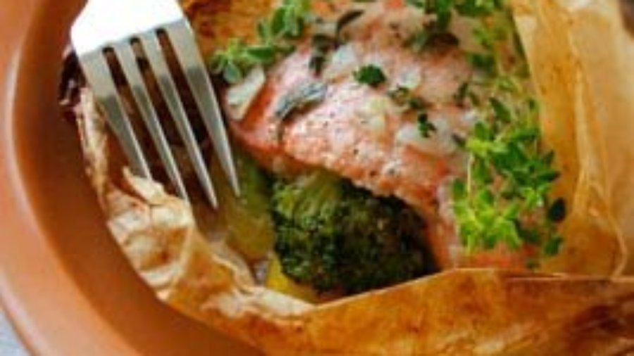 BAKED FISH EN PAPILLOTE WITH SUMMER VEGETABLES