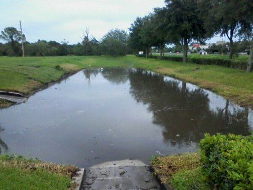 Stormwater holding pond
