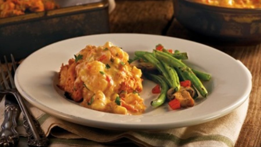Seafood Smothered Biscuits
