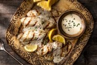 Grilled Fish with Lemon Sauce