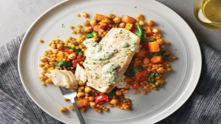 One-Pan Fish and Butternut Squash Bake
