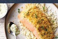 Potato-Crusted Salmon with Dill Tartar Sauce